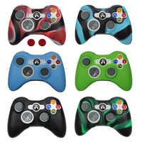 Copertura Della Cassa del Silicone Per Xbox 360 Gamepad di Gomma Molle Della Copertura Del Silicone Per Xbox360 Controller Accessori Gel Protettivo della Cassa della pelle