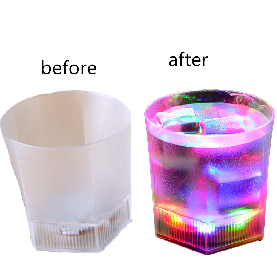 Glass juice cups design - Special Design Color Changing Cups Glass Creative Cups Light Beer Steins Fashion Button Battery High Quality
