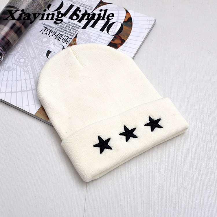 Xiaying Smile Fashion Solid Knitted Hat Woman's Cap casual Youth Leisure Warmth Hat Beanie Cap A Three-dimensional Embroidery embroidery basis book 500 kinds of three dimensional embroidery patterns