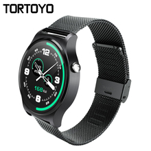 GW01 Bluetooth Good Watch Telephone IPS Spherical Display screen Life Waterproof Sports activities Wristband Watch Clock Metal Band For iPhone Android IOS