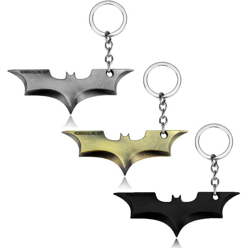 Fashion The Bat Man Movie Theme Metal Batman Keychain Alloy Key Chain Size 8.5*2.8cm Gift Jewelry
