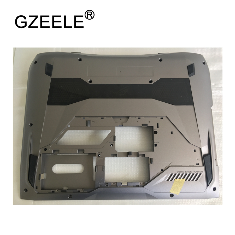 GZEELE NEW laptop Bottom Base Cover Bottom Case For ASUS G752 G752V lower cover BOTTOM CASE PN: 13N1-08A0101 13NB0D71AP0101 grey