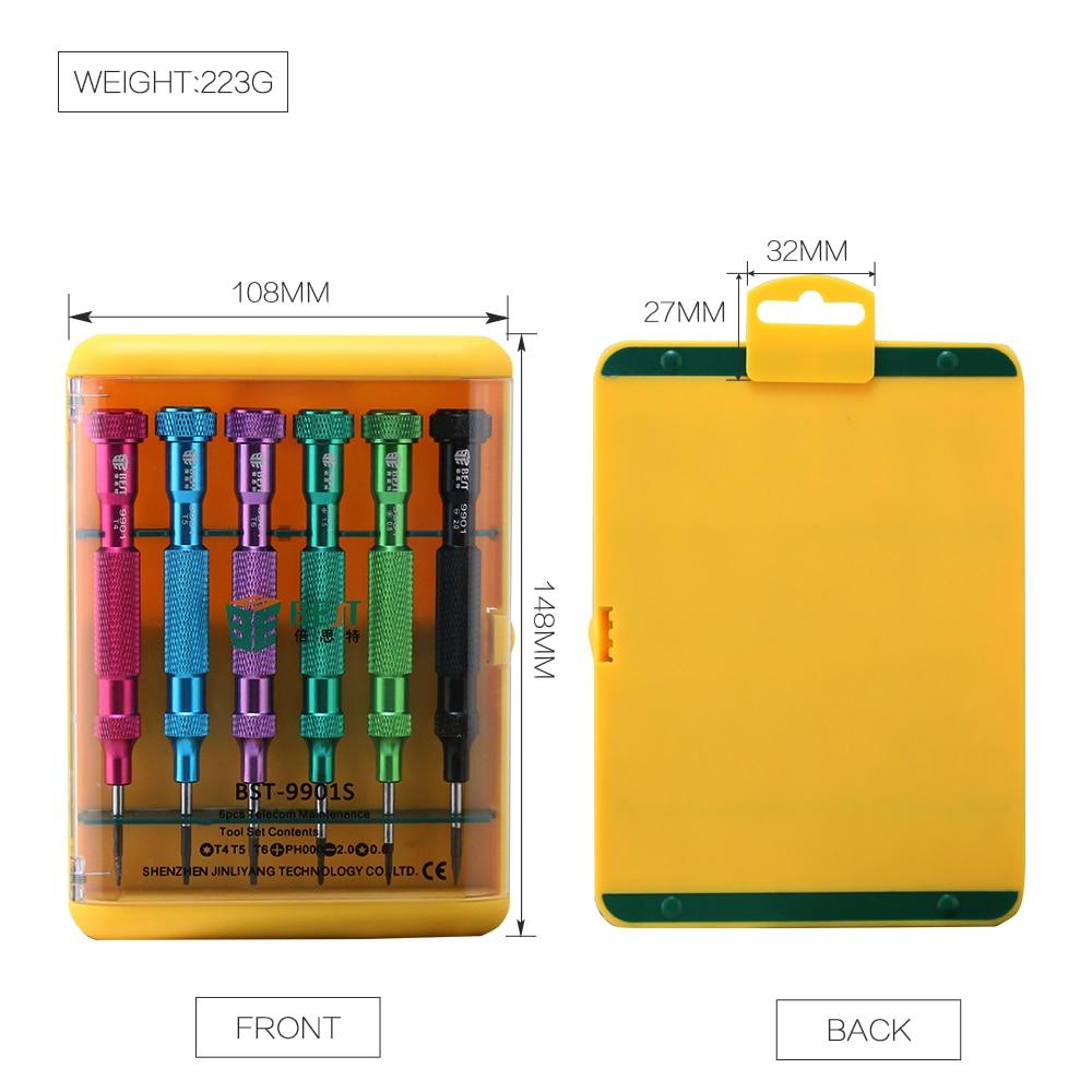 Nemokamas pristatymas BEST-9901S 6PCS mažų atsuktuvų rinkinys, - Rankiniai įrankiai - Nuotrauka 6