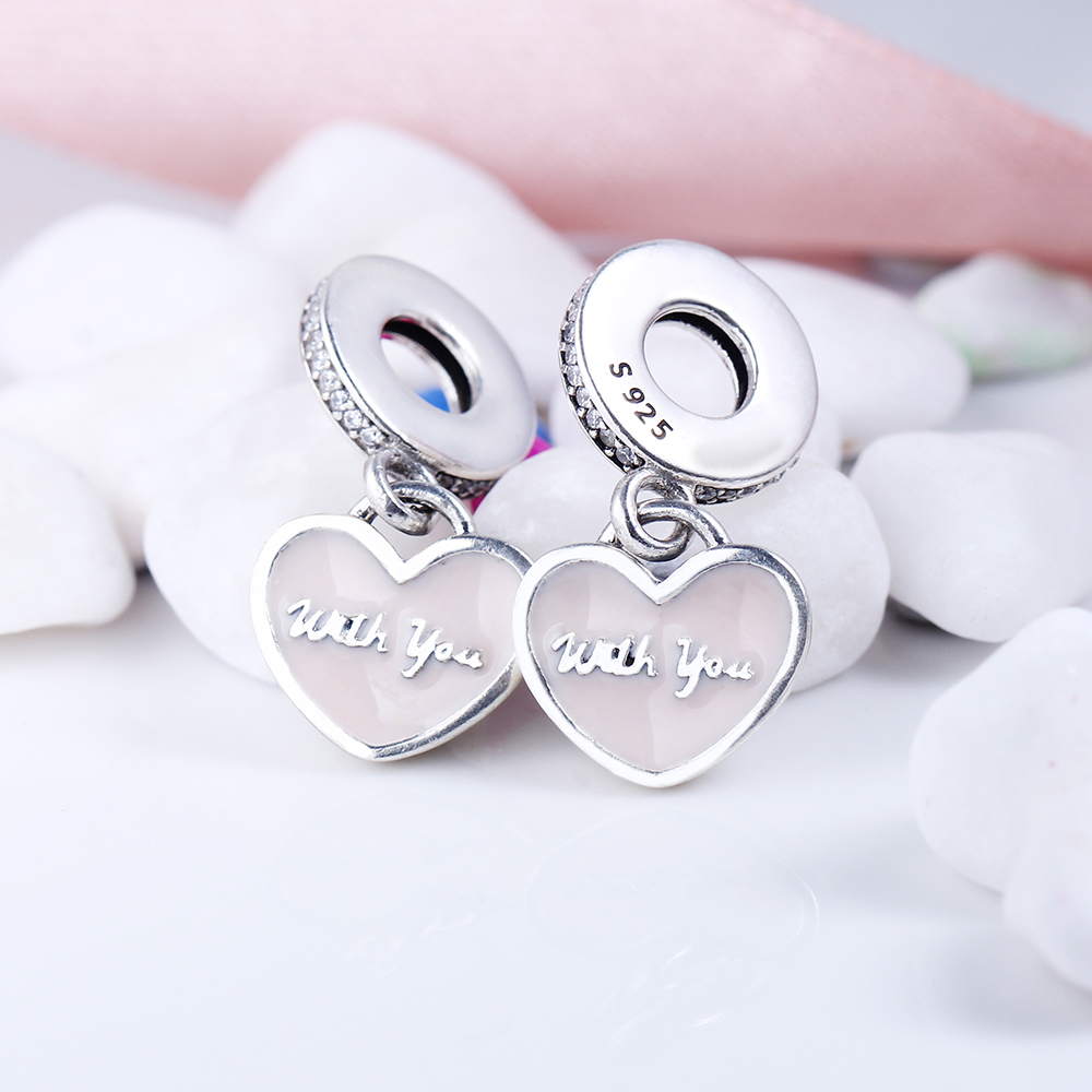 100% 925 Sterling Silver Fit Original Pandora Bracelet Travel Together Forever Dangle Charm DIY Charms Beads for Jewelry Making