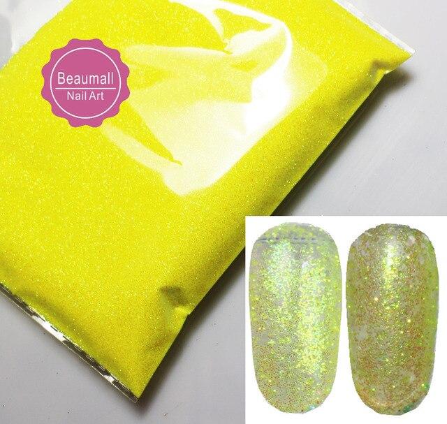 30 g/bolsa, 0.2mm 008 Tamaño Fluorescente Del Arco Iris Iridiscente ...