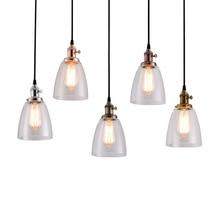 купить American Copper Chandelier Cafe Bar Creative Retro industrial Wind Glass Home Living Room E27 Lighting Decoration по цене 2034.05 рублей