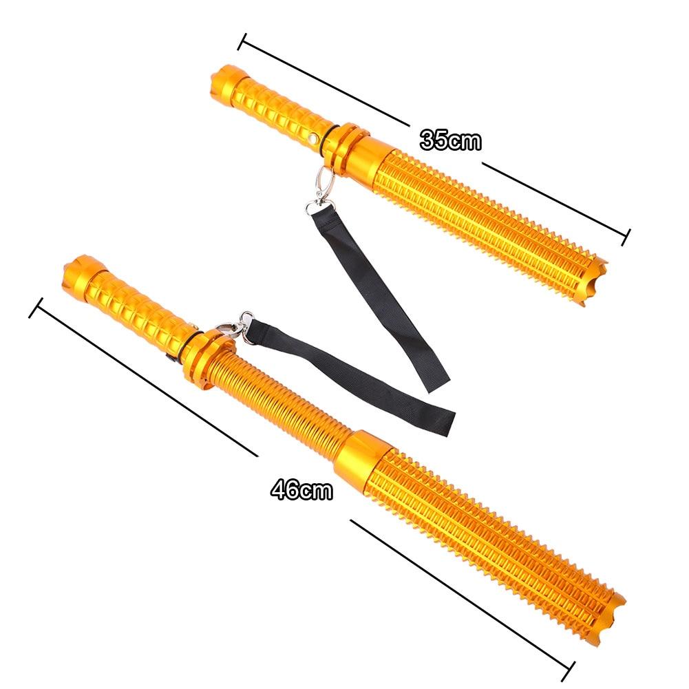 Rechargeable Retractable Long Self Defense LED Flashlight 2300 Lumens Adjust Focus Tactical Torch Baton Flash Light 18650/AAA