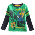 one piece despicable me brand kids t-shirt long sleeve minions boy's t shirt nova roupa infantil baby boy clothes A5301Y