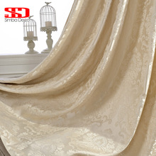 Europese Jacquard Luxe gordijnen voor woonkamer aangepaste gordijn stof slaapkamer cortinas woondecoratie raam gordijnen blind