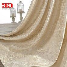 Europeu jacquard cortinas de luxo para sala estar personalizado cortina tecido quarto cortinas janela decoração para casa cego