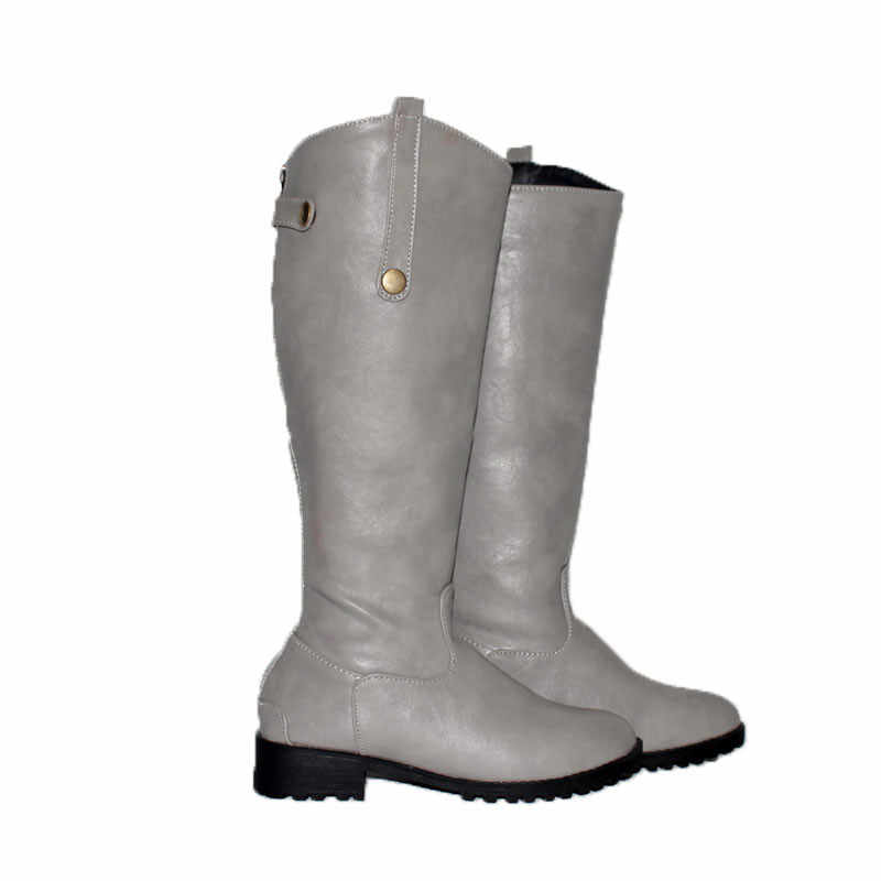 ASUMER büyük boy 33-43 için moda kışlık botlar kadın yuvarlak ayak med topuklar tutmak sıcak kar botları rahat diz yüksek çizmeler kadın
