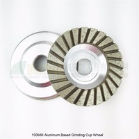 2pcs 4 100mm Diamond Turbo Row Grinding Cup Wheel Aluminum Base Grit 30 40 Professional Grinding