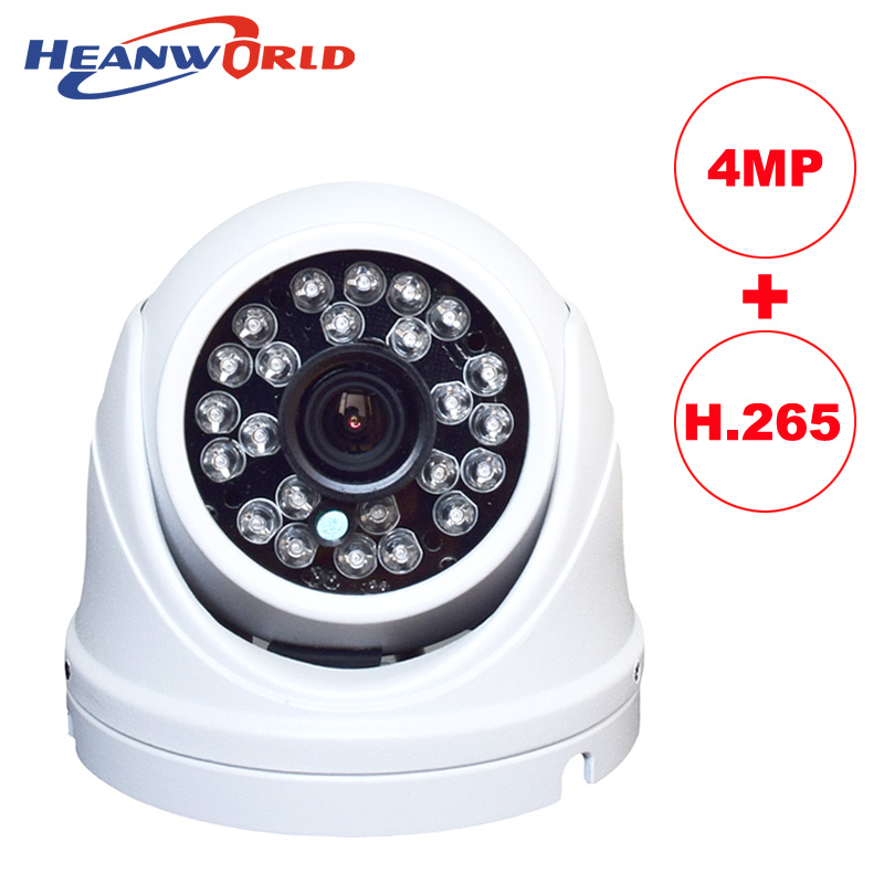 Dome IP camera HD H.265 4.0MP 4 megapixel cctv security camera video network camera onvif surveillance outdoor waterproof IP cam 36pcs lot wired dome ip camera indoor 720p hd cctv security video network surveillance ip cam 1mp