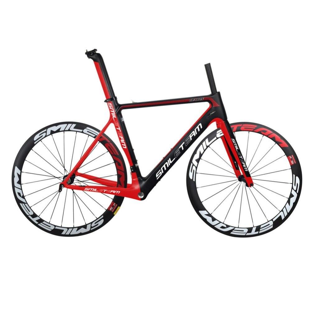 Smileteam 2019 New Model Super Light Full Carbon Road Bike Frame Carbon Racing Road Bicycle Frameset With Wheelset