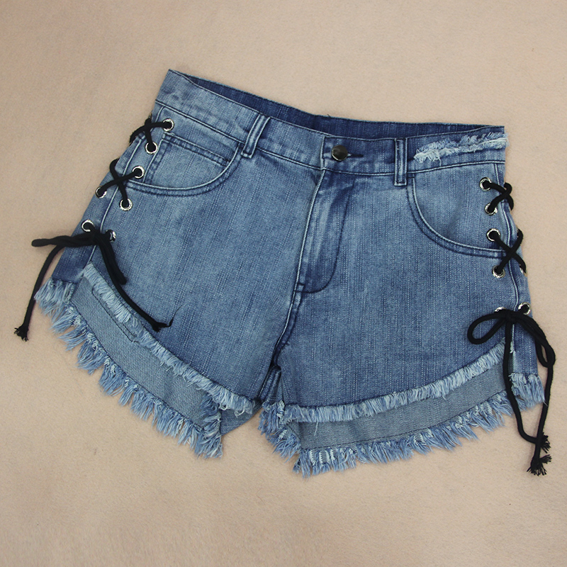 Popular Lace up Denim Shorts-Buy Cheap Lace up Denim Shorts lots ...