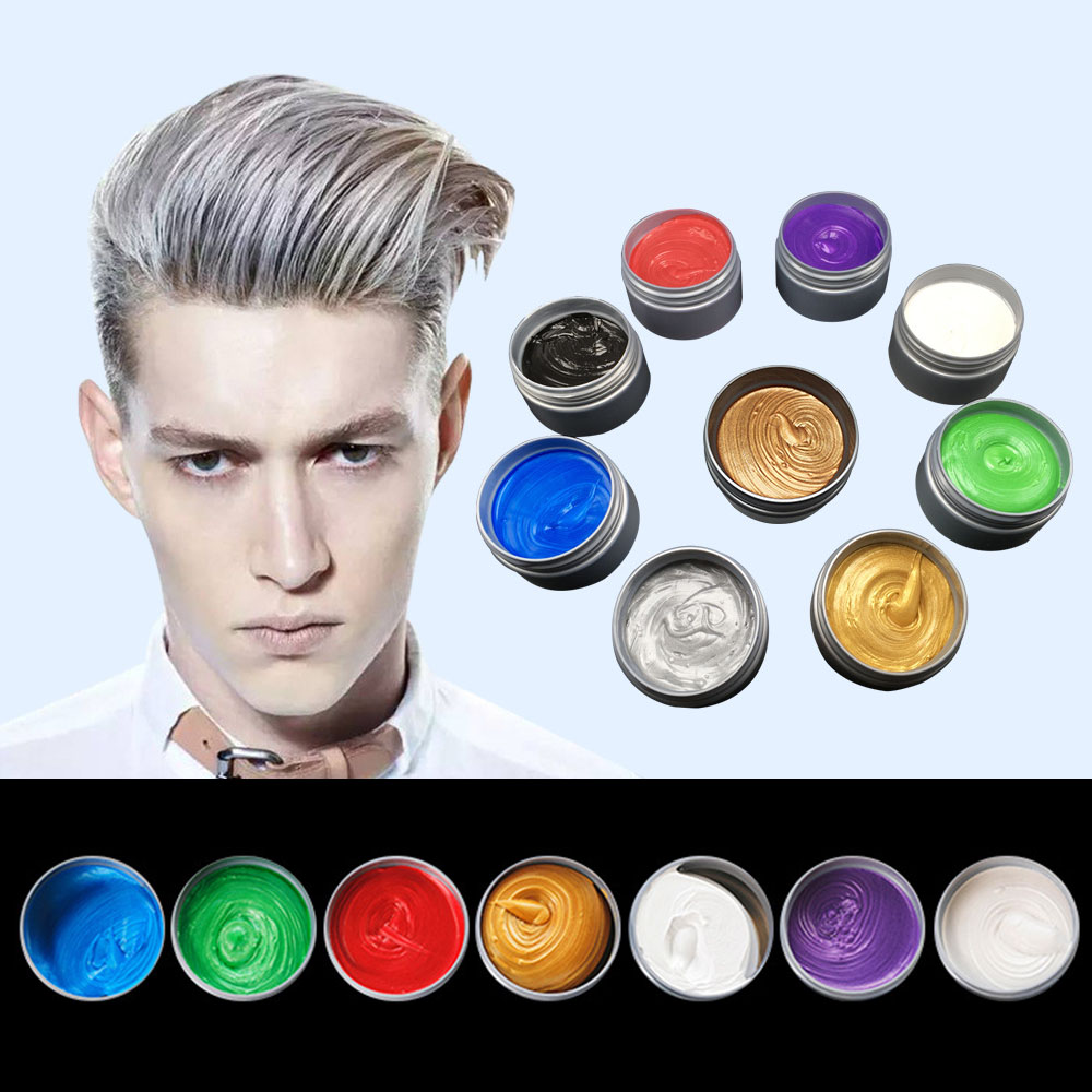 Unisex Fashion Temporary Hair Color Wax Mud Dye Cream Non-toxic DIY Styling Hair Cream Party Crayons For Hair 9 Colors TSLM2