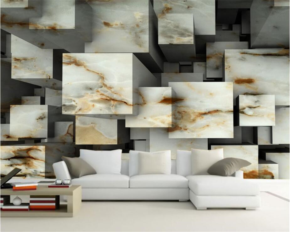 beibehang wallpaper Marble color carved texture cubes three - dimensional space fashion background wall wallpaper for walls 3 d three dimensional analysis of non planar coupled shear walls
