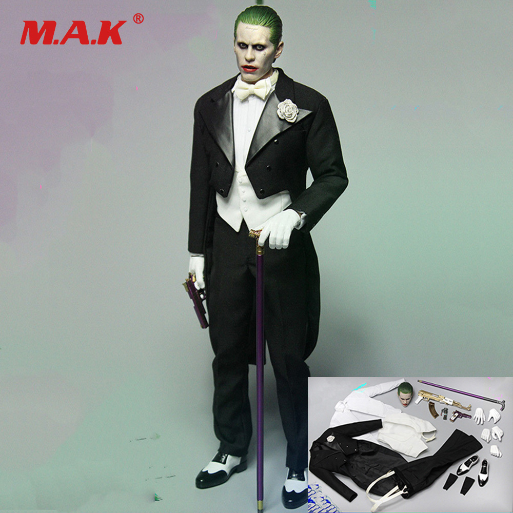 1/6 Scale Figure Accessories joker Leto Gentleman Head & Clothing Suit Accessories Model for 12 inches Action Figure Body 1 6 scale figure clothing accessories female combat suit uniforms for 12 action figure doll not included body head and weapon