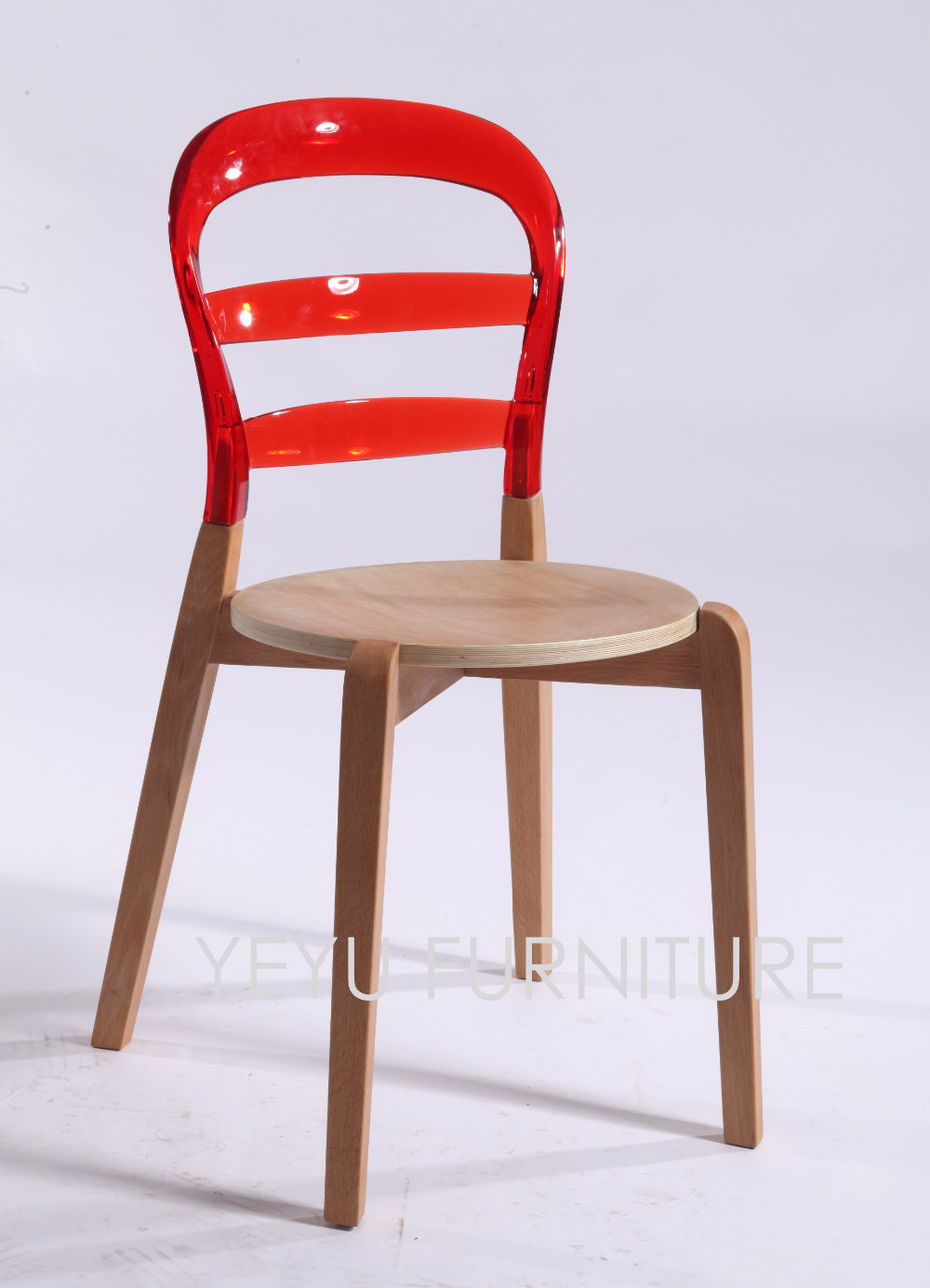 Modern wood chair with arms - Modern Design Solid Wood And Transparent Plastic Wien Chair Wooden Dining Side Chair Modern Furniture Caft Loft Nice Chairs