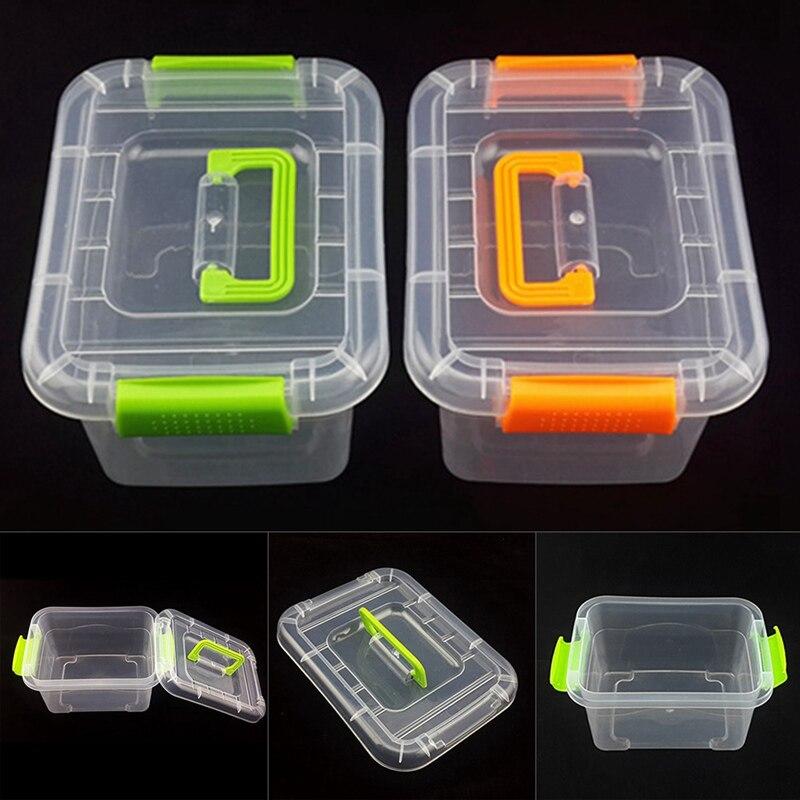 Plastic Boxes Storage-Box Handle Box Transparent Large-Tools Portable With 1-Pc 3-Size