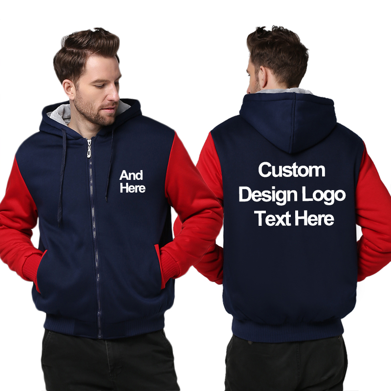 USA Size Custom Mens Hoodies Print Russian Football Club LOGO Design Hoodie Winter Fleece Thicken Coat Sweatshirts Drop Shipper