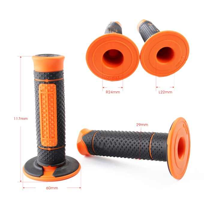 "7/8"" Motorcycle Hand Grips Handle Rubber Bar Gel Grip Orange Modified Accessory For KTM Duke 125 200 390 690 990"