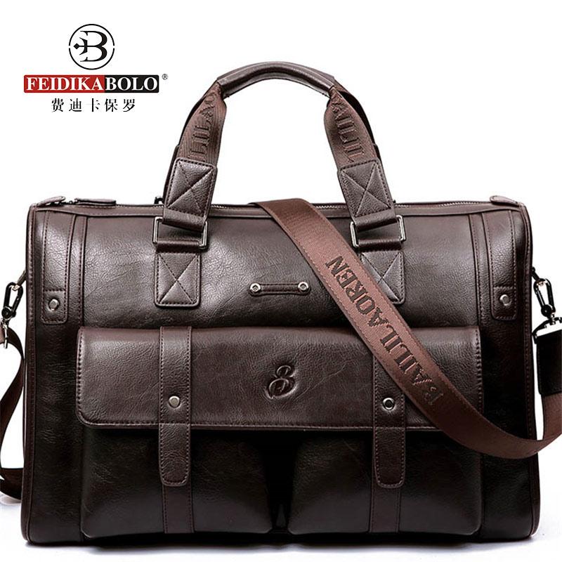 ФОТО FEIDIKABOLO Brand Men Bag Messenger Bags Men Leather Handbags Travel Bags Causal Shoulder Bag Crossbody Man's Brifecases