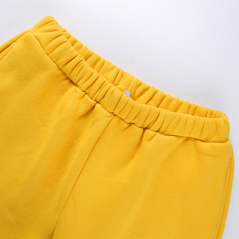 Cool Women High Waist Pants Solid Yellow Loose Joggers Female Trousers 19 Autumn Winter Track Pants Punk Capris Gray Yellow 7