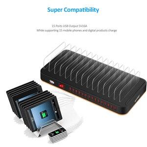 Image 5 - STOD Desktop USB Charger Station 15 พอร์ต 80W Fast CHARGING สำหรับ IPhone 5 6 6S 7 plus IPad Samsung Huawei LG ขาตั้งอะแดปเตอร์