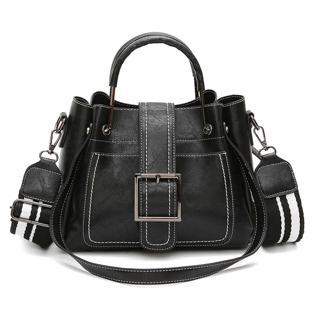 5a63cee4c09f Retro Women s Leather Shoulder Bags With Corssbody Bag Handbag Casual Large  Capacity pouch High Quality ...
