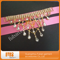 (30pieces/lot)hanging Sparkly rhinestone gold plating bikini connector