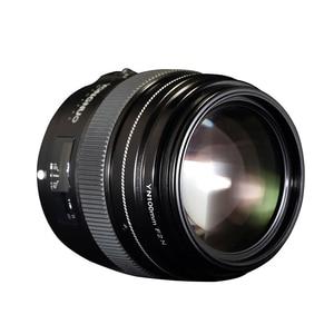 Image 3 - YONGNUO YN100mm 100 مللي متر F2N ثابت البؤري لكاميرا نيكون عدسة ، دعم AF/MF فتحة كبيرة القياسية المتوسطة المقربة رئيس عدسة