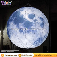 LED Lighting 2 5M Inflatable Moon Model Hot Sale Hanging Decoration Blow Up Balloon Type Moon