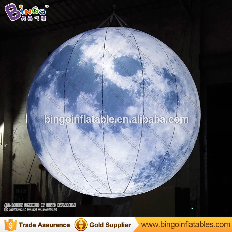 LED lighting 2.5M inflatable moon model hot sale hanging decoration blow up balloon type moon replica with digital printing toys ao058h 2m helium balloon ball pvc helium balioon inflatable sphere sky balloon for sale