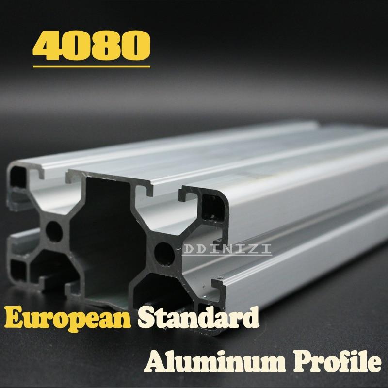 CNC 3D Printer Parts European Standard Anodized Linear Rail Aluminum Profile Extrusion 4080 for DIY 3D printer hot sale cnc 3d printer parts european standard anodized linear rail aluminum profile extrusion 2080 for diy 3d printer