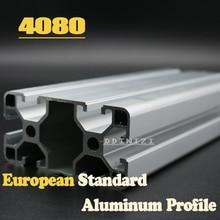 CNC 3D Printer Parts European Standard Anodized Linear Rail Aluminum Profile Extrusion 4080 for DIY 3D printer cnc 3d printer parts european standard anodized linear rail aluminum profile extrusion 2020 for diy 3d printer workbench