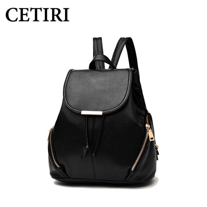 CETIRI Women s PU Leather Backpack Bag Mini Backpack For Women Girls backpacks for teenage girls