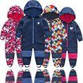 Kinder weiche shell plus samt integrierte winddicht und regen overall kinder wasserdichte overall, warme overall,