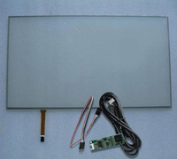 6.1inch 144.4x84.3mm 4Wire Resistive Touch Screen Panel USB kit for 6.1 monitor