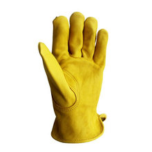 New Men Work Gloves Cowhide Leather Security Protection Wear Safety Working Climbing Outdoor Sports Gloves For Men