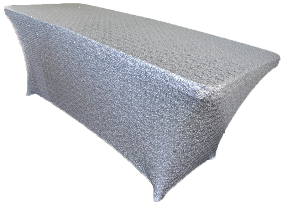 8ft Rectangular Spandex Sequin Long Bar Table Cloth Cover Set Tablecloth  For Party Wedding Event Banquet Home Decoration In Tablecloths From Home U0026  Garden ...