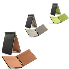 Quality money clip short wallets men pu leather clamp dollar dollar holder famous brand male magic wallet clip luxury business