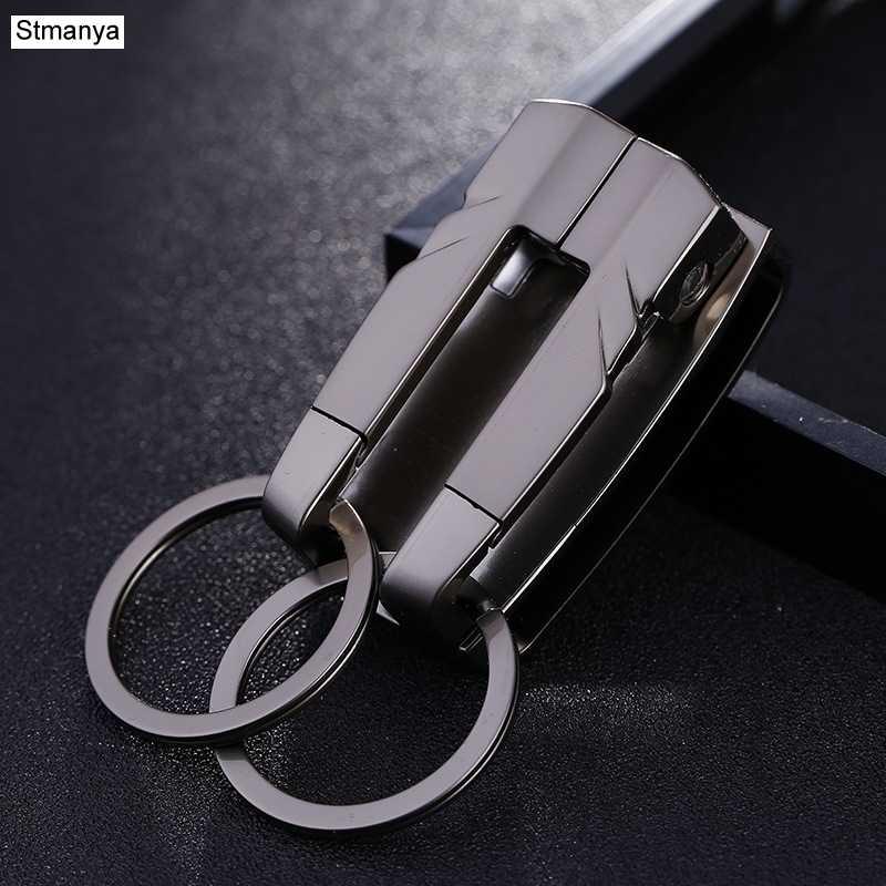 Thương hiệu Hàng Đầu Người Đàn Ông Móc Chìa Khóa Xe Phụ Nữ New Eo treo Móc Chìa Khóa Xe Vòng Chìa Khóa Kim Loại Keychain Quà Tặng Doanh Nghiệp Đồ Trang Sức k1149