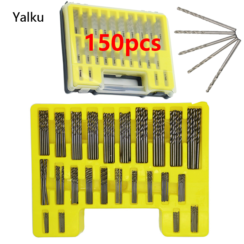 Yalku 150 In 1 Toolkit Drill Bit Set Tool Kit Twist Drill Bit Power Tool Set HSS Metal Drilling Bit Set Metalworking Hot Sale! yalku countersink drill woodworking screw drill bit set power tool set wood drilling 5 8pcs cone drill bits metal tool kit