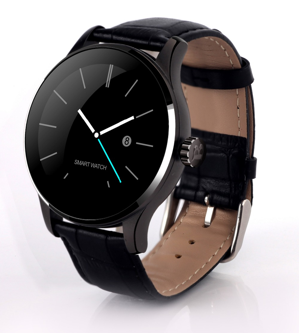 Round Bluetooth Smart Watches Clock Classic Health Metal Smartwatch with Heart Rate Monitor for Android ISO iPhone Phone K88H high quality 2017new arrival fashion baby boys kids blazers boy suit for weddings prom formal dark blue dress wedding boy suits