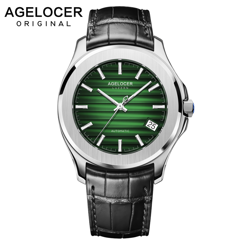 AGELOCER Mens Watches Swiss Top Brand Luxury Leather Casual Mechanical Watch Men Army Military Sport Watch Relogio MasculinoAGELOCER Mens Watches Swiss Top Brand Luxury Leather Casual Mechanical Watch Men Army Military Sport Watch Relogio Masculino