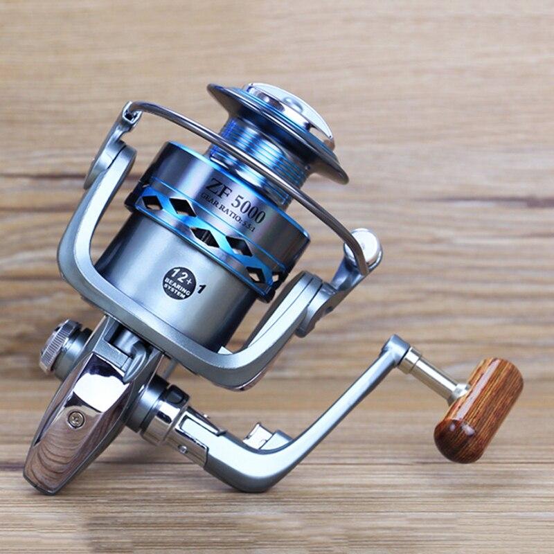 Yumoshi спиннингом Рыбная ловля LK-ZF2000-7000 12 + 1BB без пауз Рыбалка прялка море рыболовные снасти