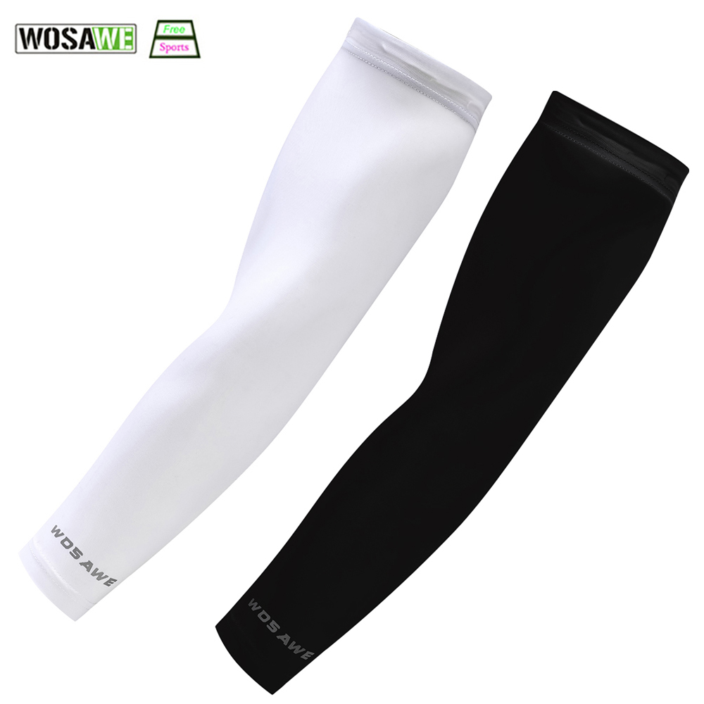 WOSAWE Anti-slip Cycling Arm Sleeve UV Protection Elastic Breathable Quick-Dry MTB Bike Bicycle Arm Warmer Cooling Arm Covers