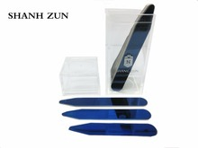 SHANH ZUN 10 Pcs Blue Tone Stainless Steel Collar Stays in Plastic Box, Order the Sizes You Need for Easy Accessibility