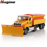Snow Clearer Vehicle American Engineering Car Simulation 1:50 Metal Big Truck Children's Toy Alloy Diecast Model Toys Kids Gift